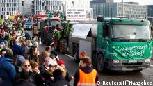 Deutschland Berlin - Demonstration der Landwirte
