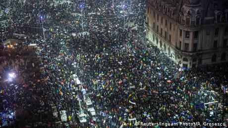 У Бухаресті відбулася масова демонстрація проти корупції