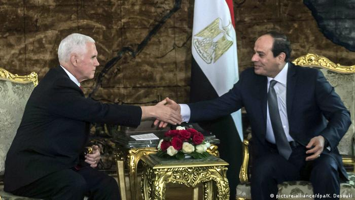 Ägypten Nahostreise von US-Vizepräsident Pence (picture-alliance/dpa/K. Desouki)