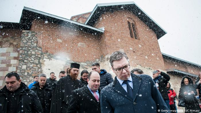 Kosovo Gracanica Besuch Vucic (Getty Images/AFP/A. Nimani)