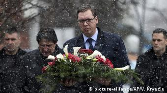 Kosovo Mitrovica Vucic Gedenken Oliver Ivanovic (picture-alliance/AP/V. Kryeziu)
