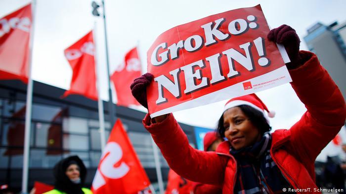 Bonn Außerordentlicher SPD-Parteitag Anti GroKo Protest
