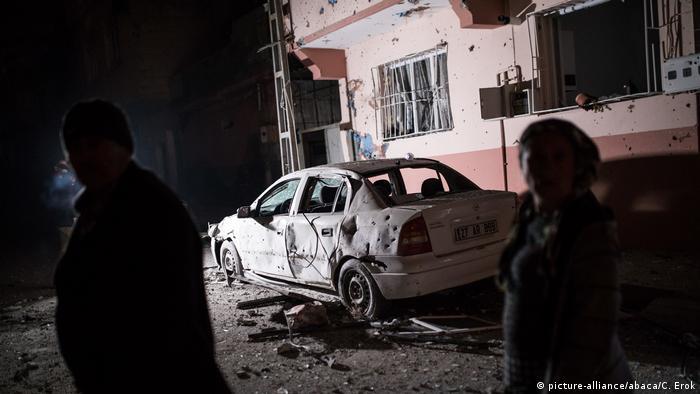 Rocket attack on Turkish town