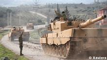 Türkei Grenze Syrien Militärkonvoi Operation Olivenzweig Leopard Panzer