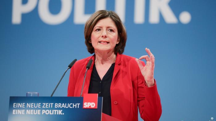Малу Драйер на съезде СДПГ в Бонне (фото из архива)