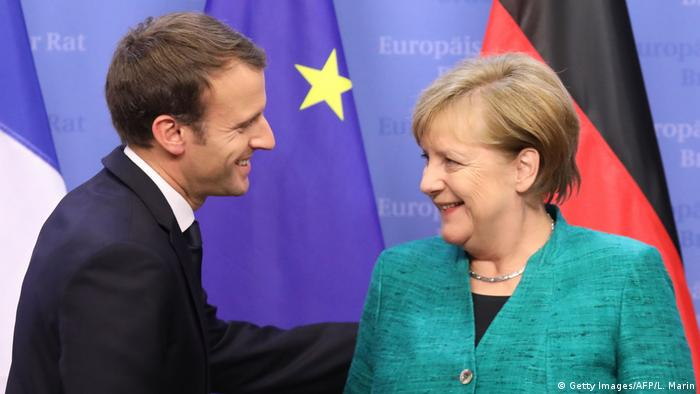 EU Gipfel Macron Merkel (Getty Images/AFP/L. Marin)