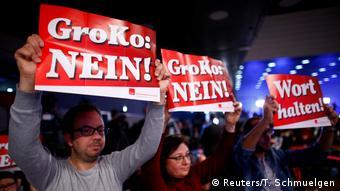 SPD party meeting in Bonn on January 21,2018 (Reuters/T. Schmuelgen)