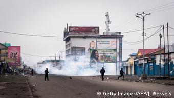 Proteste im Kongo (Getty Images/AFP/J. Wessels)