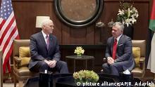 US Vize-Präsident Mike Pence bei König Abdullah II in Jordanien