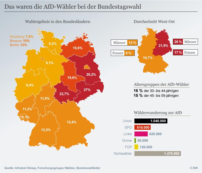 Infografik Wahlanalyse AfD-Wähler DEU