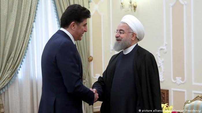 Iran Hassan Rouhani und Nechirvan Barzani (picture alliance/abaca/Iranian Presidency)