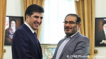 دیدار نیچروان بارزانی، نسخت وزیر اقلیم کردستان عراق با علی شمخانی دبیر شورای عالی امنیت ملی در تهران