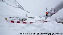 Zermatt cut off from outside world (picture alliance/KEYSTONE/dpa/P. Mooser)