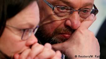Martin Schulz looking pensive
