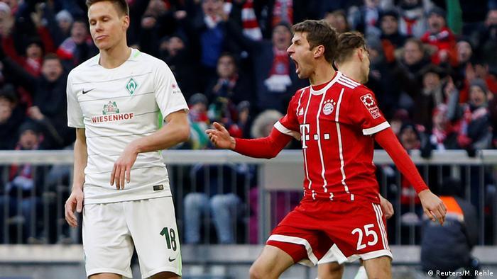 Deutschland Bayern München gegen Werder Bremen   Thomas Müller