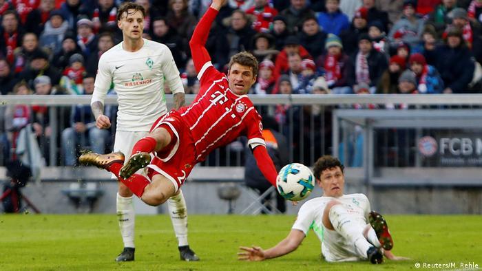 Deutschland Bayern München gegen Werder Bremen   Thomas Müller (Reuters/M. Rehle)