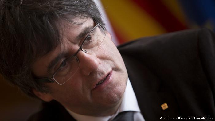 Kataloniens Präsident Carles Puigdemont in Brüssel (picture alliance/NurPhoto/M. Llop)