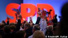 SPD party conference vote (Reuters/W. Rattay)