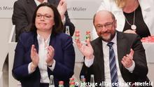 Außerordentlicher SPD-Parteitag Andrea Nahles und Martin Schulz