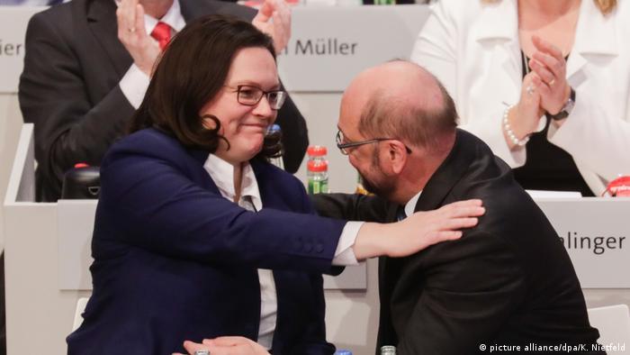 Andrea Nahles e Martin Schulz