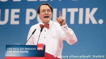 Außerordentlicher SPD-Parteitag Karl Lauterbach (picture alliance/dpa/K. Nietfeld)