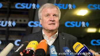Horst Seehofer bei Sitzung des CSU-Präsidiums