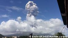 Philippinen Eruption Vulkan Mayon