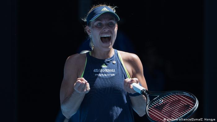 Australian Open Angelique Kerber vs Hsieh Su-We (picture-alliance/Zuma/Z. Hongye)
