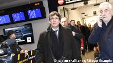 Carles Puigdemont arrives in Copenhagen