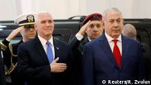 Israel Mike Pence und Benjamin Netanjahu