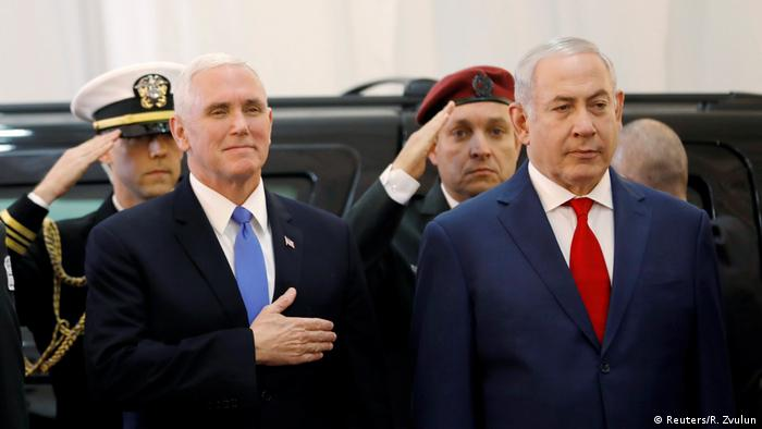 Israel Mike Pence und Benjamin Netanjahu (Reuters/R. Zvulun)