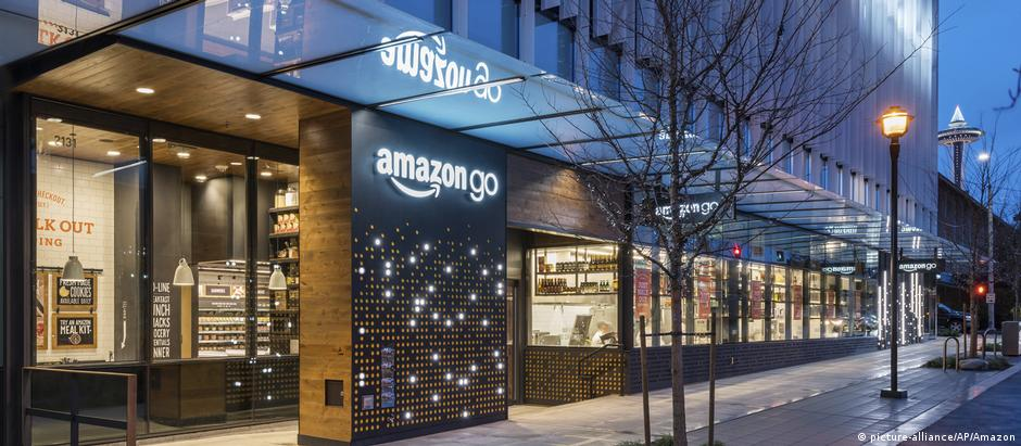 Loja Amazon Go em Seattle, perto da sede de empresa de comércio digital