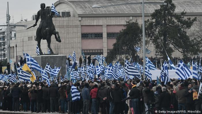 Griechenland Proteste in Thessaloniki Namensstreit Mazedonien (Getty Images/AFP/S. Mitrolidis)