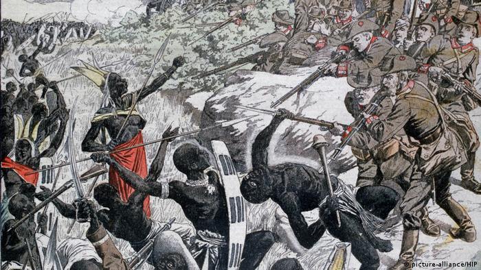 Representação histórica do genocídio na Namíbia