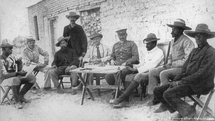 Deutsch-Südwestafrika Vertrag zwischen Leutwein u. Herero Maharero