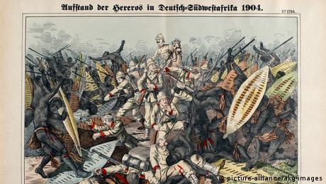 لوحة تجسد كيف قمعت ألمانيا انتفاضة ضدها خلال استعمارها لناميبيا