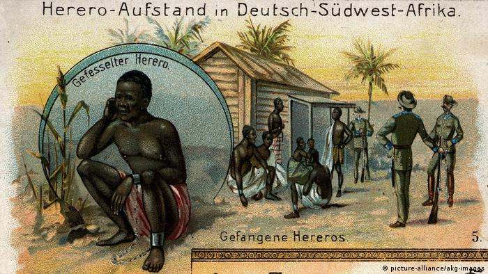 Deutsch-Südwestafrika Zeichnung Hererokrieg Hereroaufstand (picture-alliance/akg-images)
