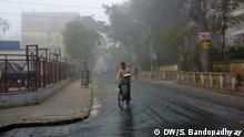 Indien Smog und Nebel in kalkutta