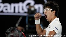 Tennis Australian Open Chung Hyeon (picture-alliance/AP Photo/V. Thian)
