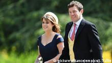 Princess Eugenie of York and her long-term boyfriend Jack Brooksbank (picture alliance/empics/J. Tallis)