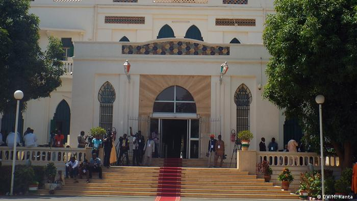 File photo of Niger's presidential palace in the capital Niamey