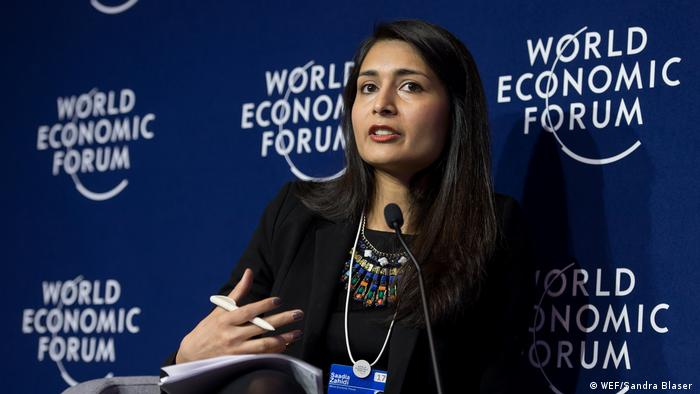 Davos 2018 Saadia Zahidi (WEF/Sandra Blaser )