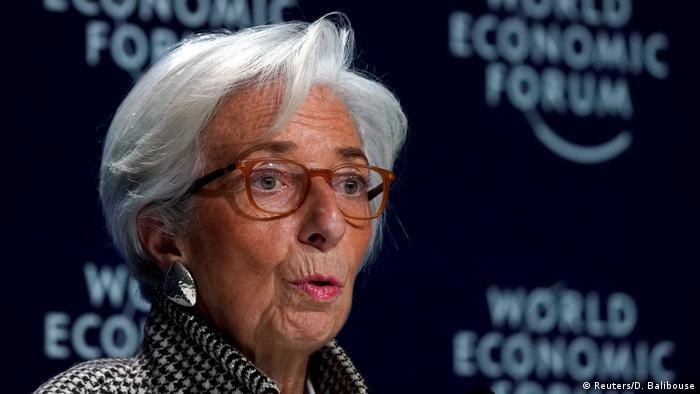 Schweiz Davos IWF Chefin Lagarde