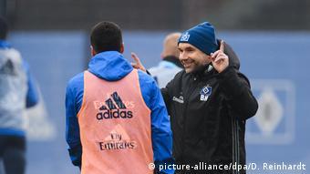 Fußball Training Hamburger SV mit Bernd Hollerbach
