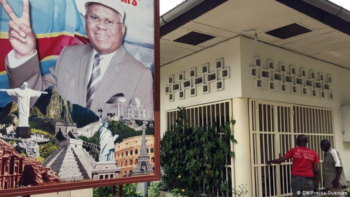 Demokratischen Republik Kongo, das Haus vom kogolesischen Opponenten Etienne Tshisekedi (DW/Frejus Quenum)