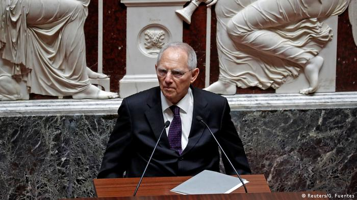 Paris Bundestagpräsident Schäuble im National Assembly