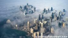 Katar Doha im Nebel (picture-alliance/dpa/Y. Valat)