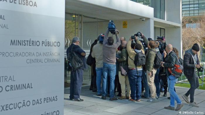 A group of journalists in Portugal scrambling to cover the trial