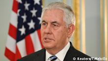 US-Außenminister Rex Tillerson nimmt an einer Pressekonferenz mit dem britischen Außenminister Boris Johnson in London teil