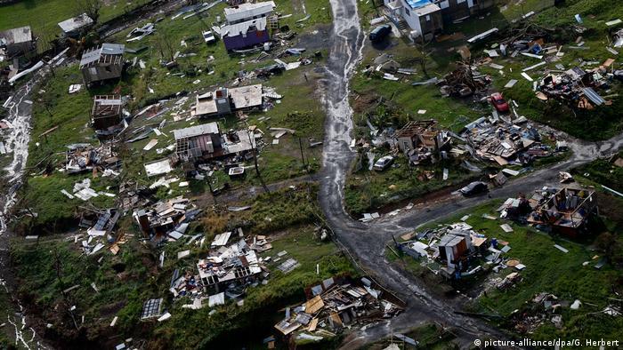 Furacão Maria deixou um rastro de destruição em Porto Rico